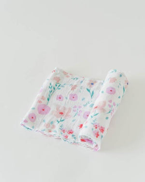 Little Unicorn Cotton Swaddle - Morning Glory