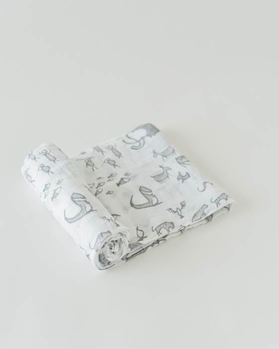 Little Unicorn Cotton Swaddle - Cave Art