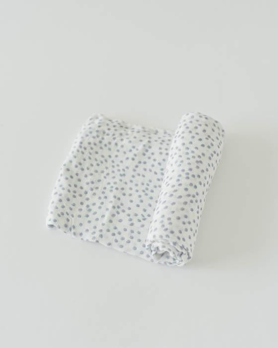 Little Unicorn Deluxe Swaddle - Periwinkle Polka Dot