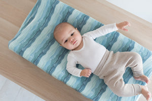 Copper Pearl Premium Diaper Changing Pad Cover - Waves