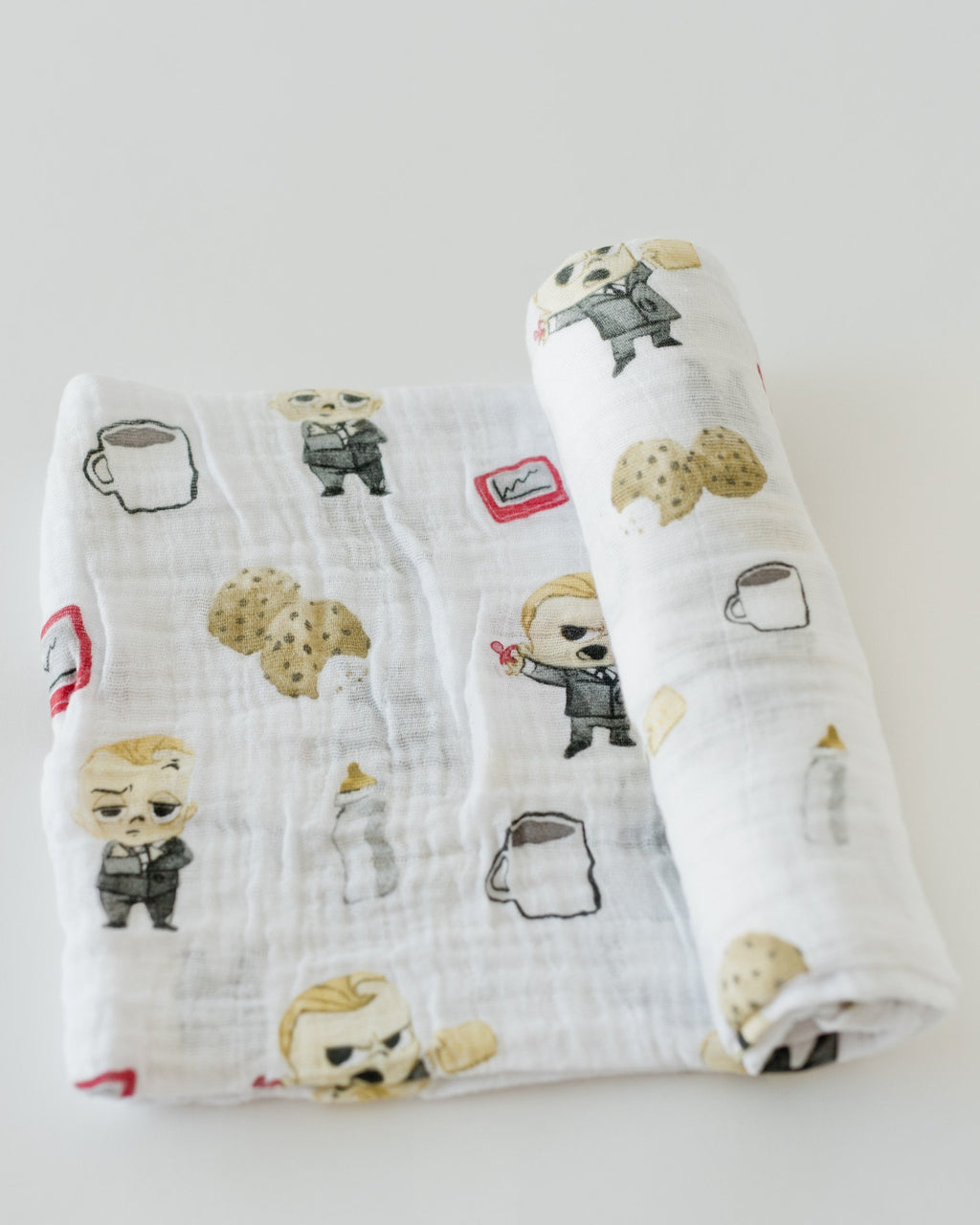 Little Unicorn LU + The Boss Baby Cotton Swaddle - Cookies are for Closers