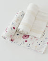 Little Unicorn Deluxe Swaddle Set - Fairy Garden