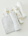 Little Unicorn Cotton Swaddle Set - Yellow Rose