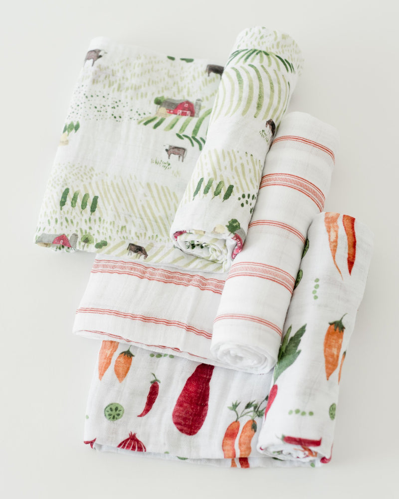 Little Unicorn Cotton Swaddle Set - Farmers Market