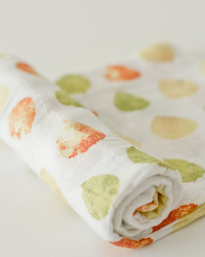 Little Unicorn Cotton Swaddle - Aspen Leaf