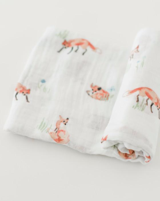 Little Unicorn Cotton Swaddle - Fox
