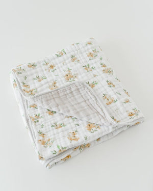 Little Unicorn Cotton Muslin Quilt - Yellow Rose