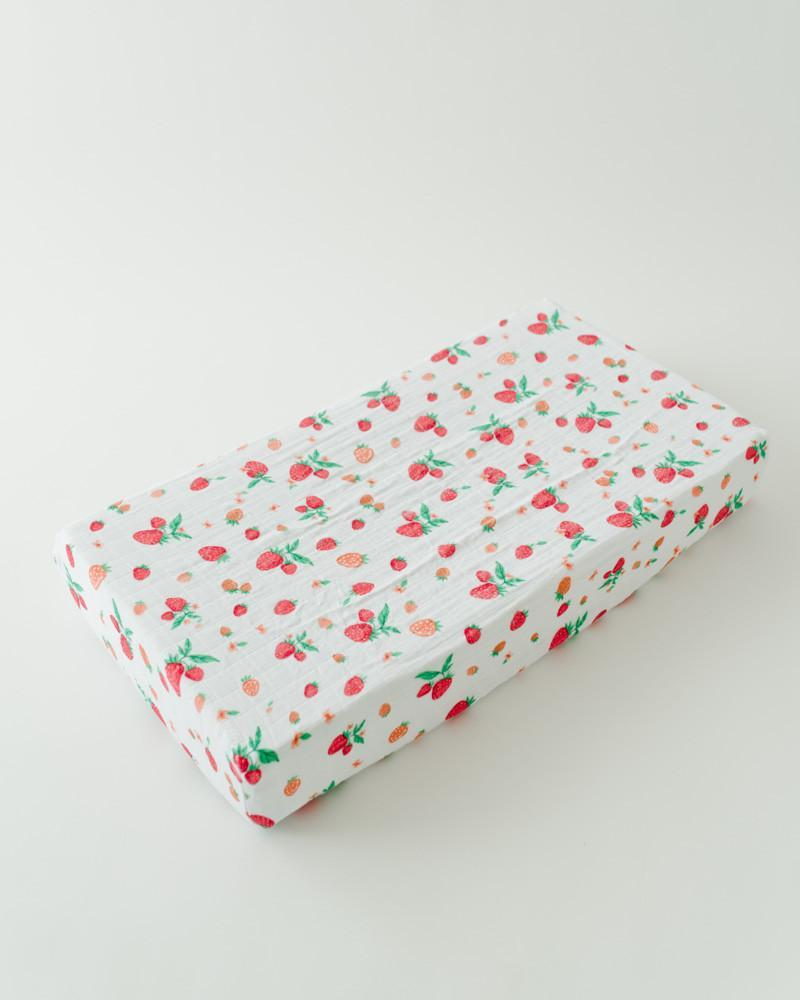 Little Unicorn Cotton Changing Pad Cover - Strawberry