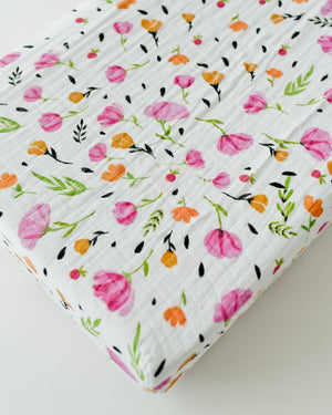 Little Unicorn Cotton Changing Pad Cover - Berry & Bloom