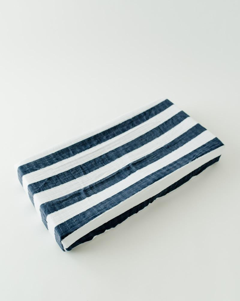 Little Unicorn Cotton Changing Pad Cover - Navy Stripe