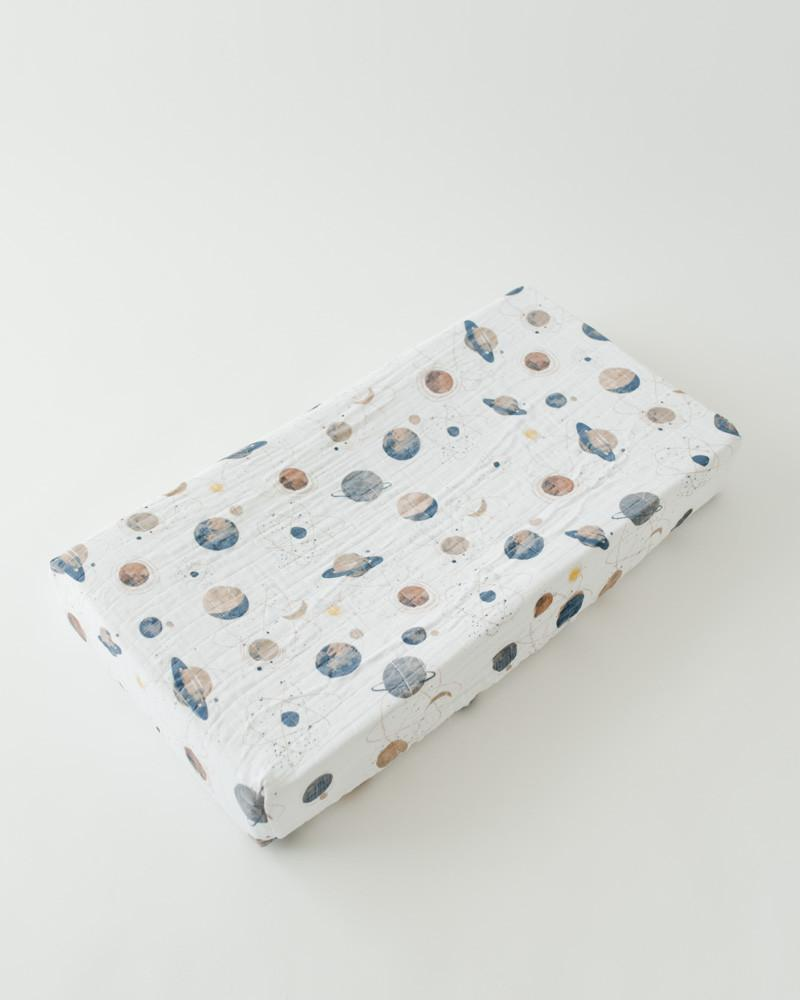 Little Unicorn Cotton Changing Pad Cover - Planetary