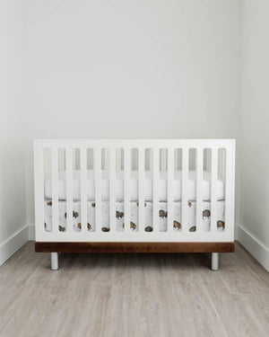 Little Unicorn PerCale Crib Skirt - Bison