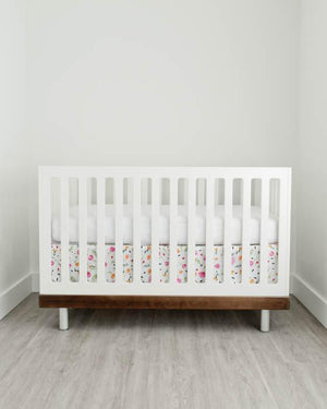 Little Unicorn Percale Crib Skirt - Berry & Bloom