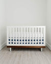 Little Unicorn Percale Crib Skirt - Navy Stripe