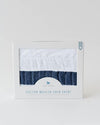 Little Unicorn Cotton Muslin Crib Skirt - Navy Stripe