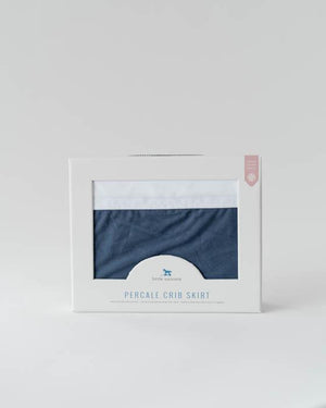Little Unicorn Percale Crib Skirt - Indigo Wash