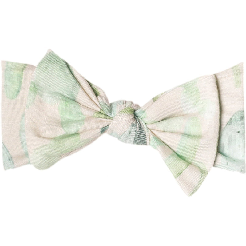 Copper Pearl Knit Headband Bow | Desert
