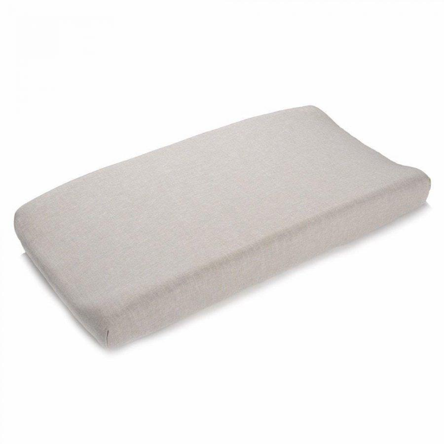 Liz & Roo Flax Linen Blend Contoured Changing Pad Cover