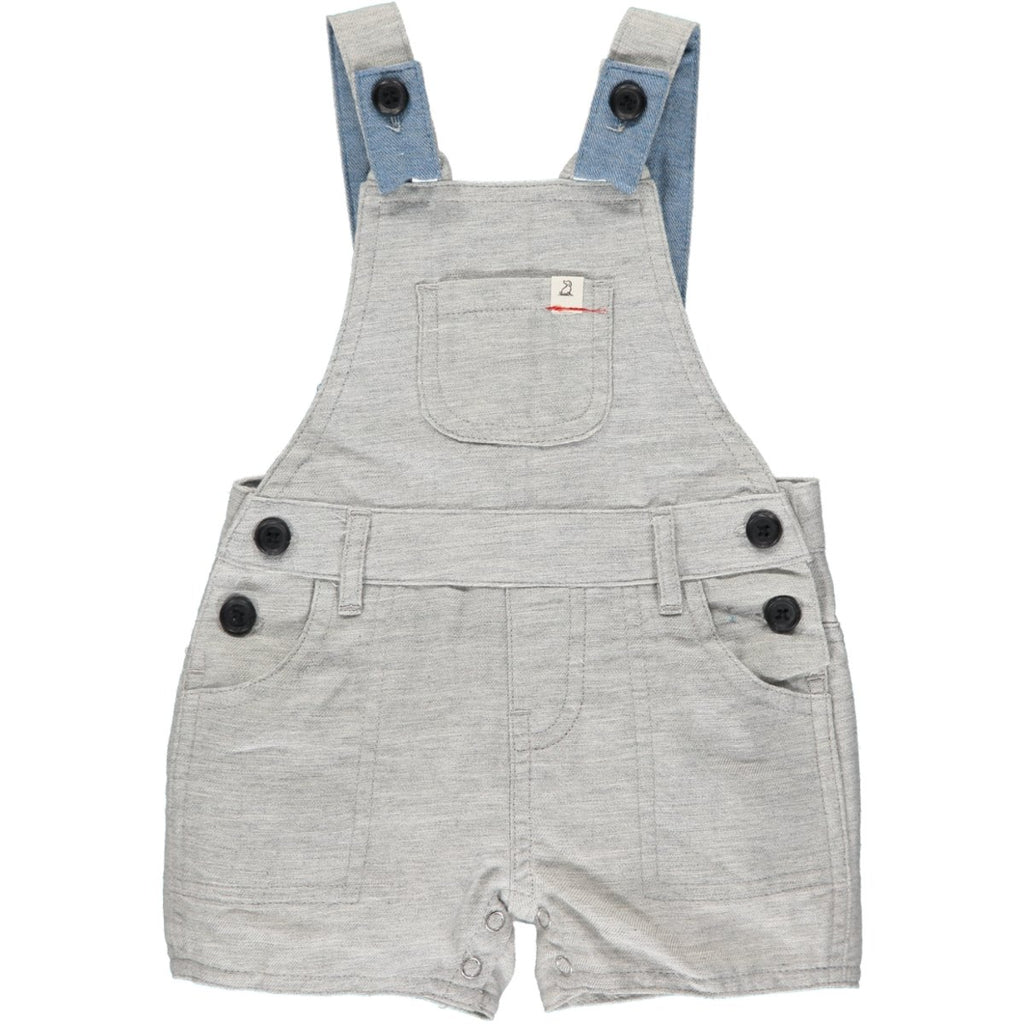 Me & Henry Bowline Shortie Overalls | Pale Grey