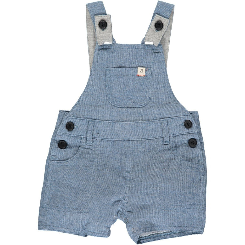 Me & Henry Bowline Shortie Overalls | Chambray