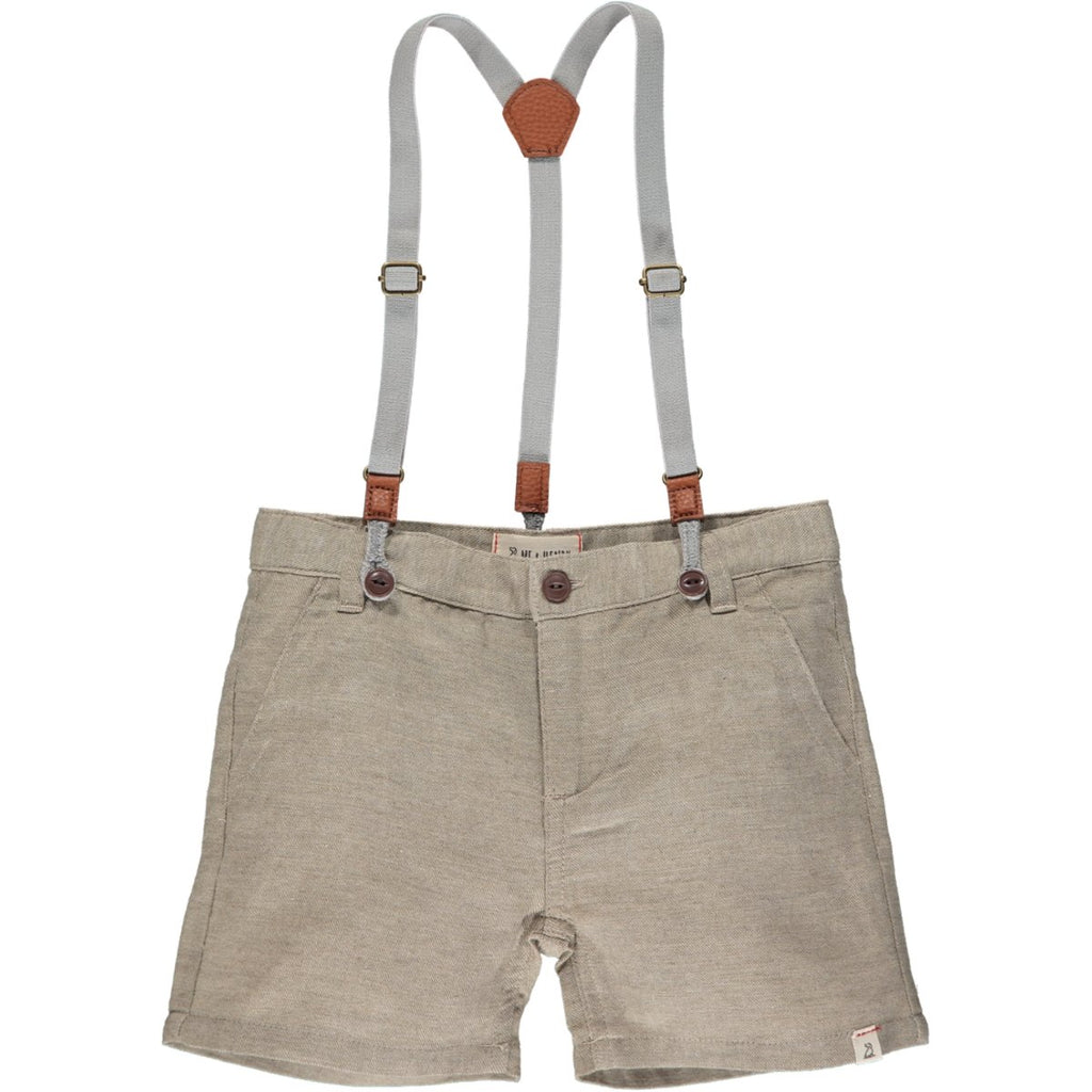 Me & Henry Captain shorts with suspenders | Beige