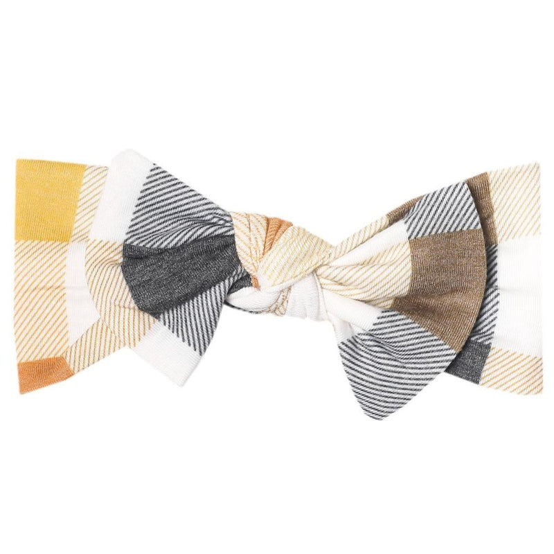 Copper Pearl Knit Headband Bow | Harvest