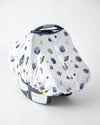 Little Unicorn Cotton Muslin Car Seat Canopy - Planetary