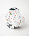 Little Unicorn Cotton Muslin Car Seat Canopy - Mermaid