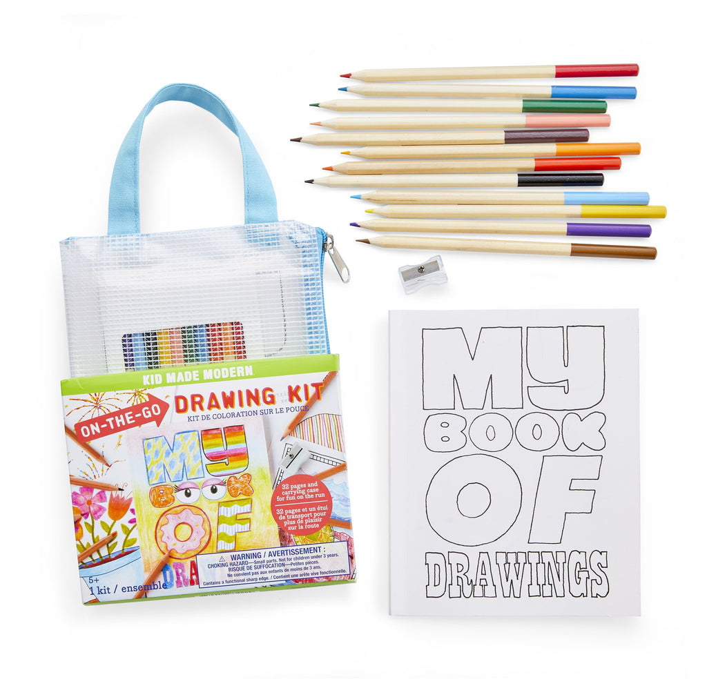 Kid Made Modern On The Go Drawing Kit