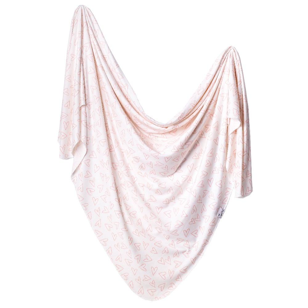 Copper Pearl Knit Swaddle Blanket | Lola