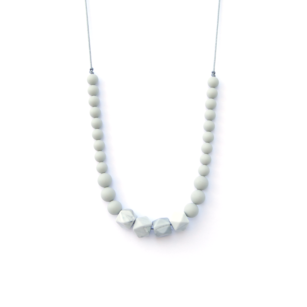 Loulou Lollipop Marble Silicone Teething Necklace