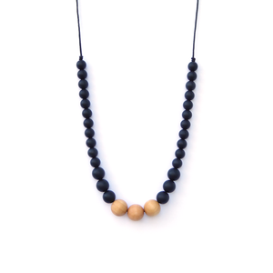 Loulou Lollipop Naturalist Wood + Silicone Teething Necklace