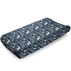 Liz & Roo Woodland Forest (Navy) Contoured Changing Pad Cover
