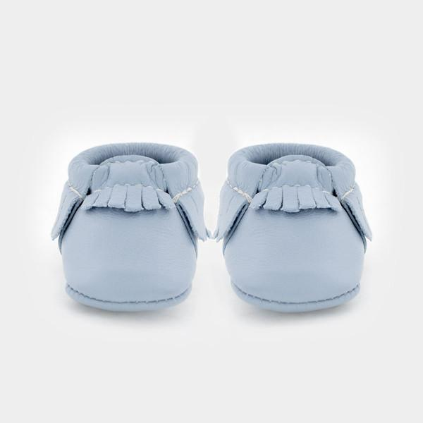 Freshly Picked Newborn Moccasin - Powder Blue