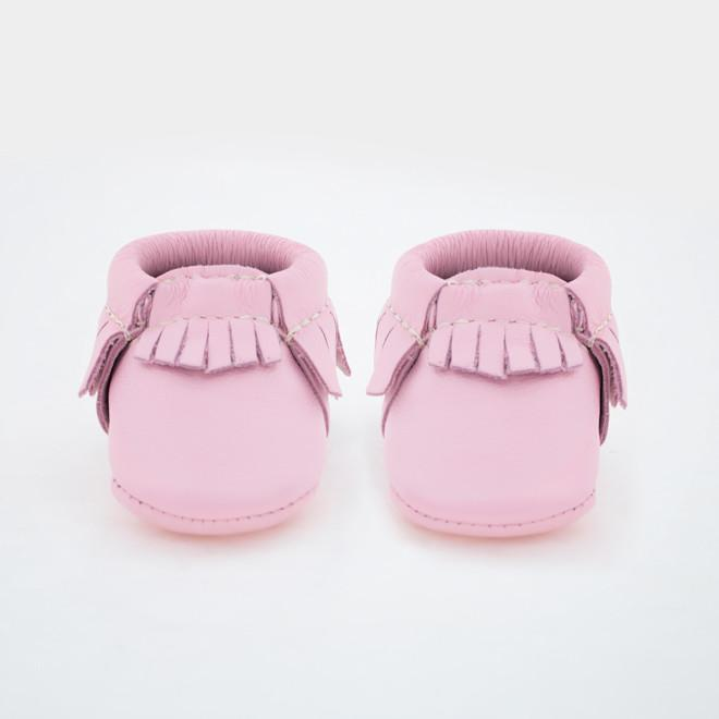 Freshly Picked Newborn Moccasin - Rose Pink