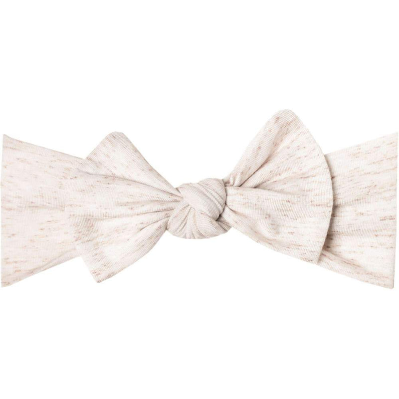 Copper Pearl Knit Headband Bow | Oat