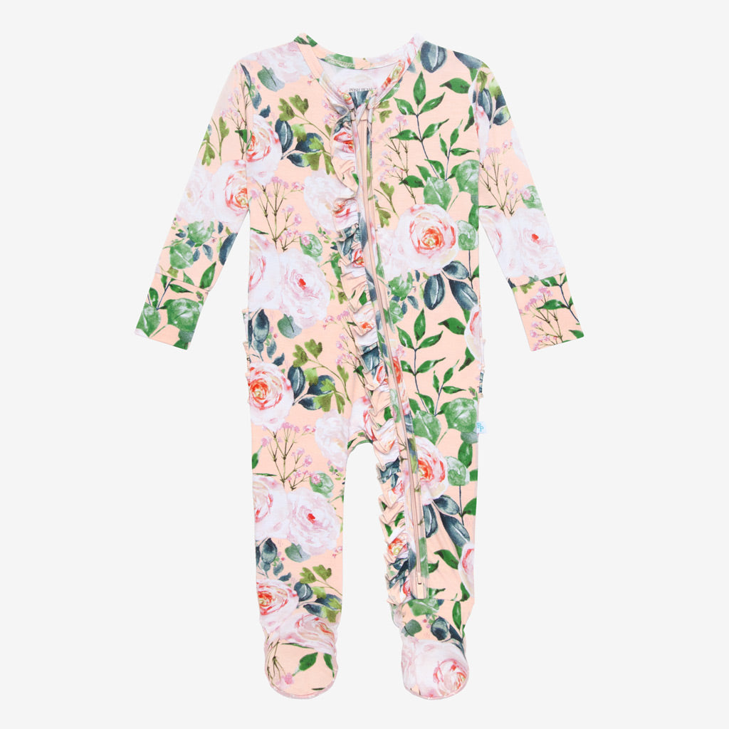 Posh Peanut Harper Ruffled Zippered one piece