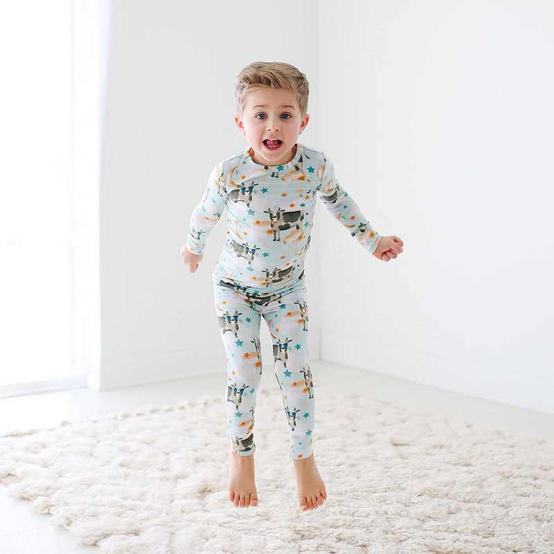 Posh Peanut Tex Long Sleeve Basic Pajamas