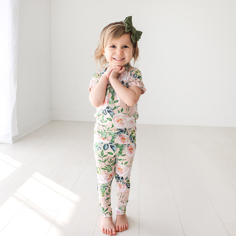 Posh Peanut Harper Ruffled Short Sleeve Loungewear