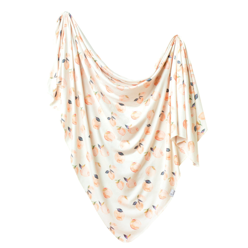Copper Pearl Knit Swaddle Blanket | Caroline