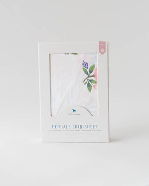 Little Unicorn Percale Crib Sheet - Watercolor Rose