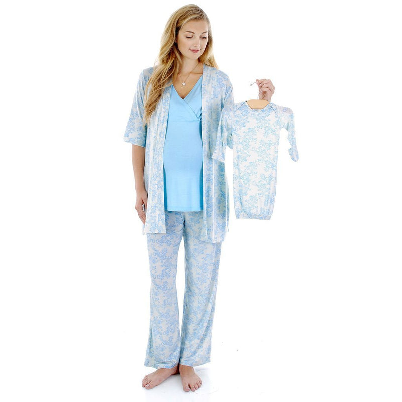 Everly Grey Analise 5-piece Blue Chantilly