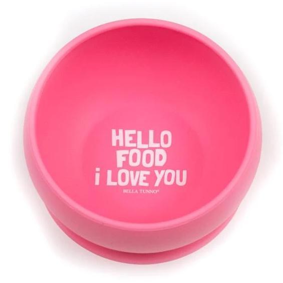 Bella Tunno Hello Food I Love You Suction Bowl
