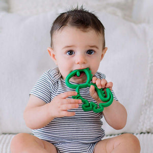 Itzy Ritzy Chew Crew Silicone Teether Dino