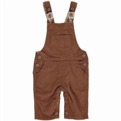 Me & Henry Brown Cord Overalls
