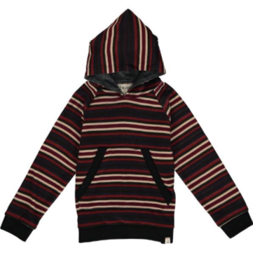 Me & Henry Multi Stripe Hooded Top