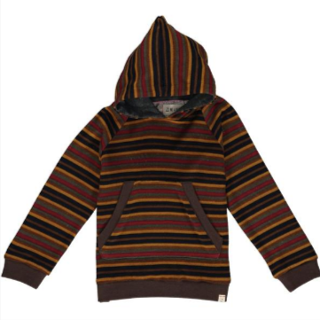 Me & Henry Mustard Stripe Hooded Top