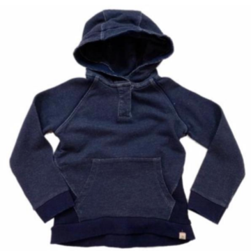 Me & Henry Navy Vintage Wash Hooded Top