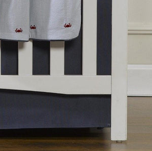 "Liz & Roo Navy Solid Crib Skirt 17"" Drop"