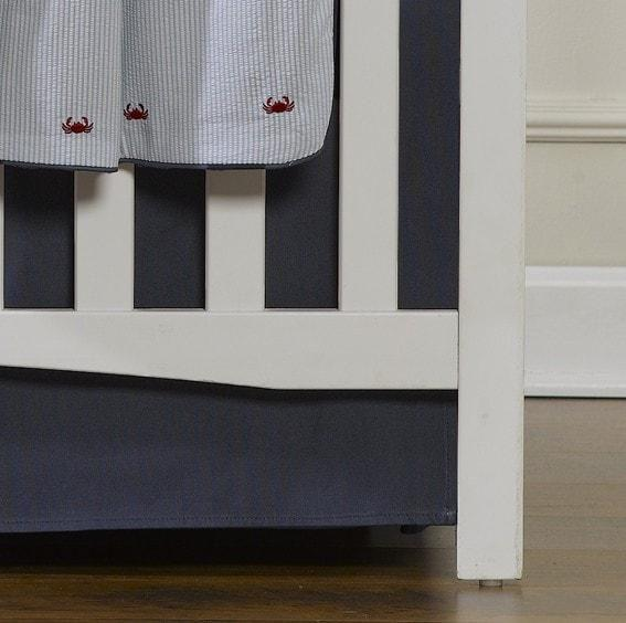 Liz & Roo Navy Solid Crib Skirt 17